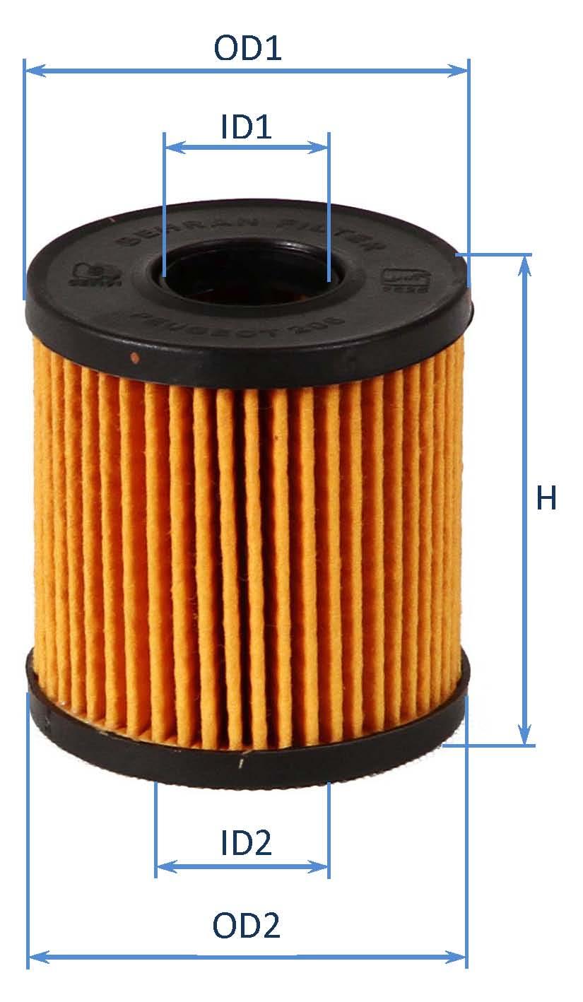 فیلتر روغن جیلـی 1016051591- روغن پژو  206 (کوتاه) (با چین معمولی)